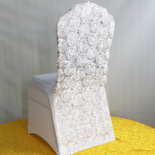 new style fancy rosette spandex chair cover 200gsm for decoration free shipping