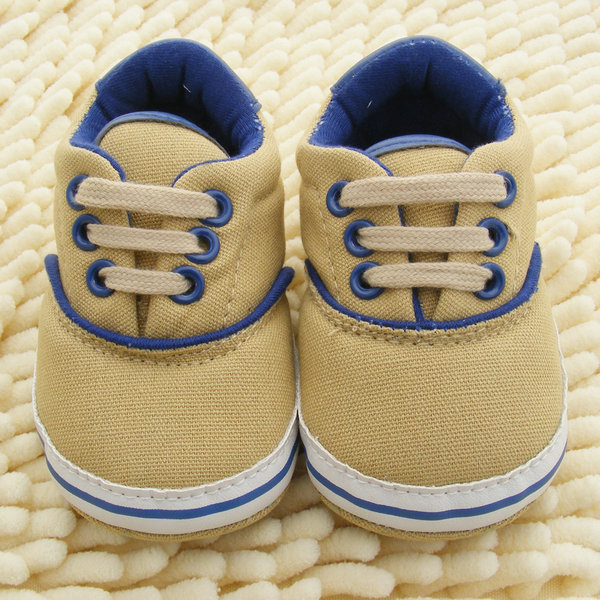 1 Pair 0-18M New Infant Baby Boys Girls Soft Sole Crib Shoes Lace Up Sneaker Newborn Toddler First Walkers Shoes j2