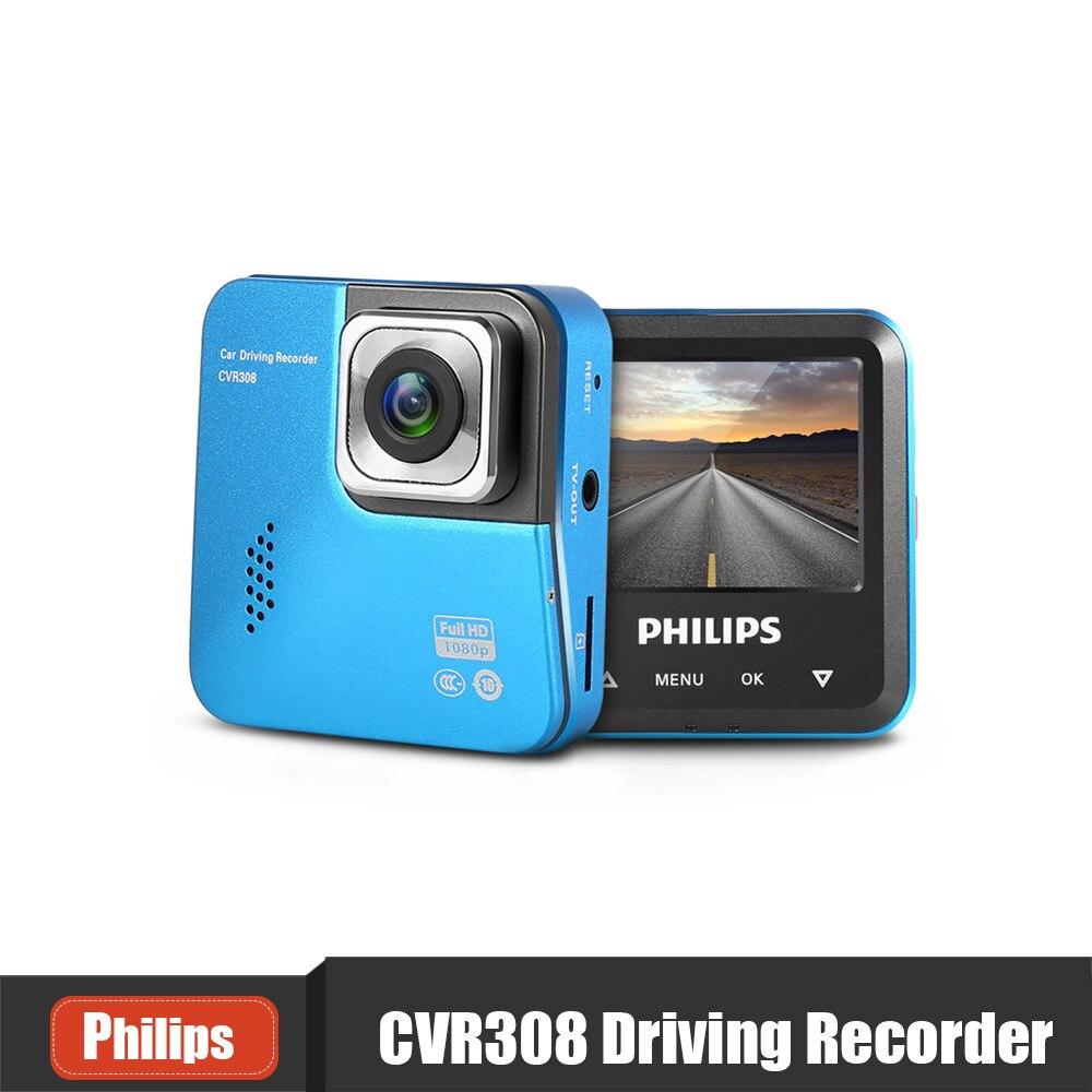 PHILIPS CVR308 Mini Car DVR Camera Mini Dash Cam Novatek 1920 x 1080P HD Driving Video Recorder Night Vision G-sensor WDR DVR [vk] 743370951 vhdci stacked rcpt w cvr 136ckt connectors