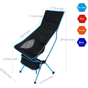Image 2 - Moon Chairs Fishing Camping Chair BBQ Stool Folding Extended Hiking Garden Furniture Portable Ultra Light Office AL Alloy Seat