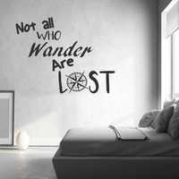 Не все, кто блуждает потеряны Наклейки на стену кавычки Винил DIY Домашний Декор Водонепроницаемый Книги по искусству наклейка Спальня накле...