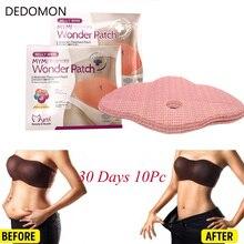 10 PCS Mymi Wonder Patch Quick Slimming Belly Slim Abdomen Fat burning Navel Stick Slimer Weight Loss Face Lift Tool