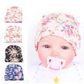 Retail 0-3M Newborn Baby Hat Floral knitting Baby Cap Infant Cap Cotton Hats Toddler Boys Girls Caps 5 cloor