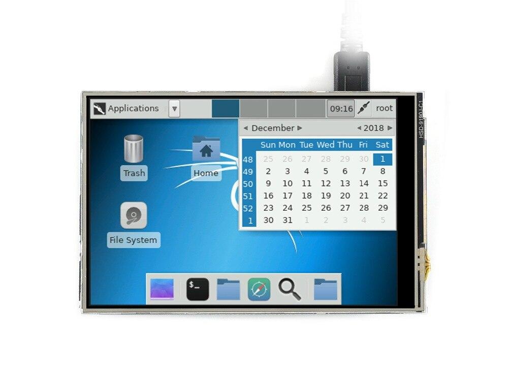 Écran tactile 4 pouces TFT LCD pour Raspberry Pi 4 pouces RPi LCD (C) 125 MHz haute vitesse tactile résistif SPI résolution matérielle 480x320