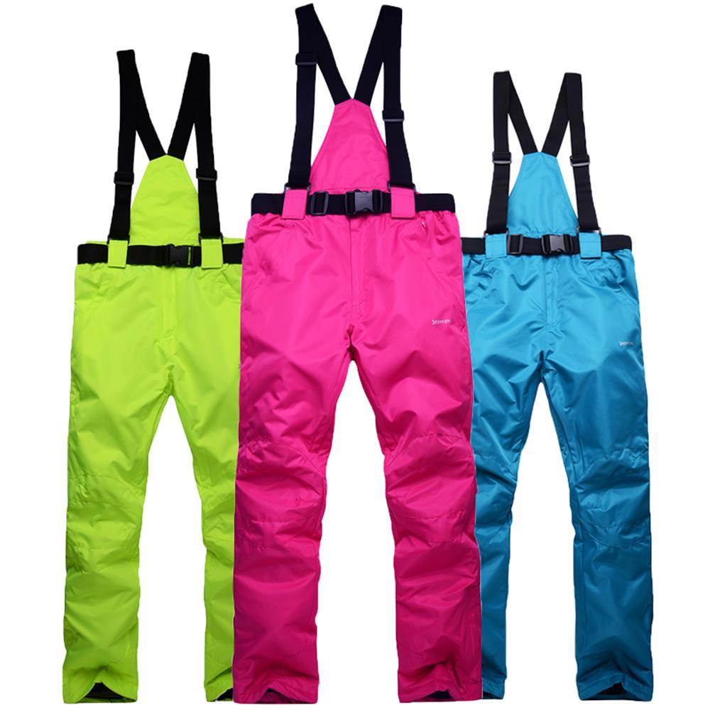 Prix pour Femmes et Hommes Ski Bib Pantalon Snowboard Pantalon Coupe-Vent Imperméable Respirant Dame Pantalons De Neige Mâle Skiiing Pantalon S-3XL