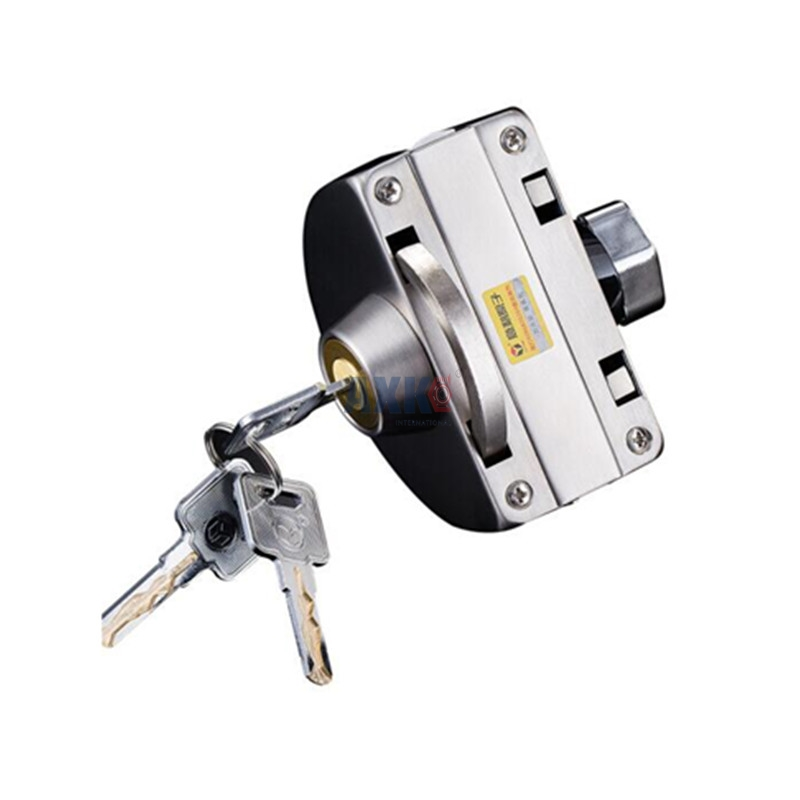 Free opening 304 stainless steel lock glass door lock C-class lock core double door double open anti-theft