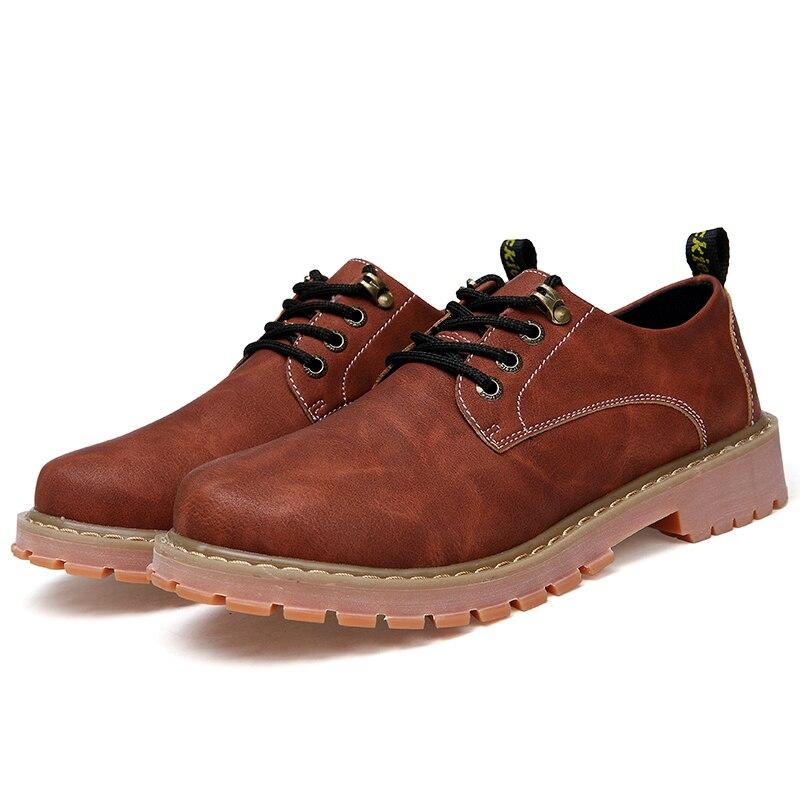 Woodtree Stivali Da Uomo 2018 Nuova Moda In Pelle Scamosciata scarpe da Uomo scarpe Casual oxfords per la Primavera Estate Inverno Sneakers Dropshipping - 4