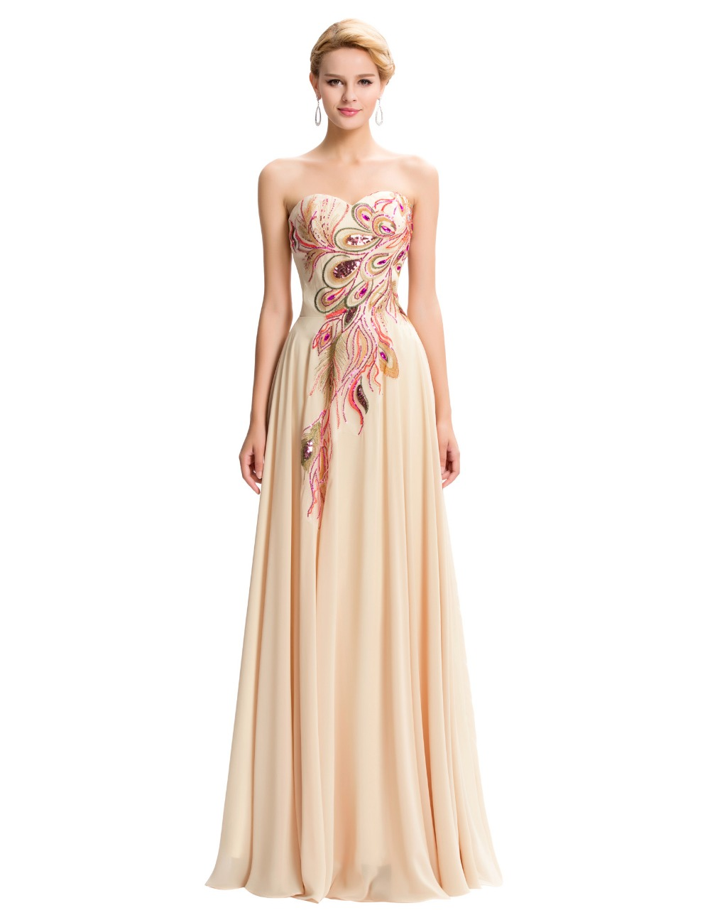 Online Buy Wholesale strapless chiffon gown from China ...