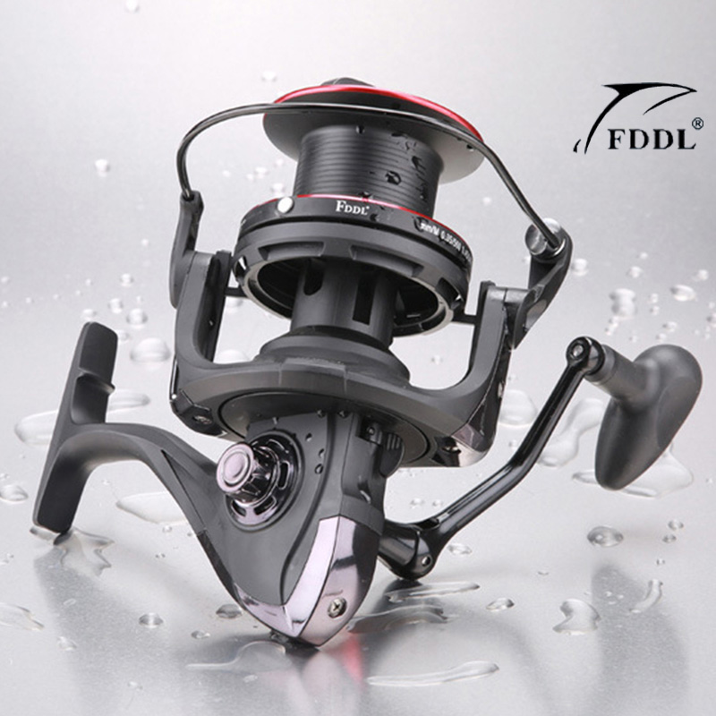 NEW DABEN10000 Series 13+1BB Fishing Reel With 4.1:1 Gear Ratio Saltwater Extra Line Cup Spinning Reel Wheel Fishing Tackle high quality spinning fishing reel 14 bearings distant wheel high gear ratio superbig line capacity trolling wheel fishing tool