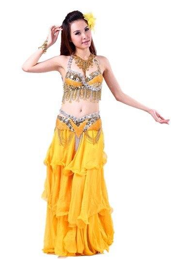4b563ce5e3d95 Ventre Costume de danse 2 pcs Bra   ceinture danse indienne femmes danseur vêtements  ensemble vêtements de danse orientale usure 6 couleurs 36233528285