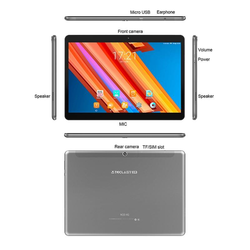 "Teclast M20 10.1"" Tablet Pc 4g Lte Phone Call Tablet Mtk6797 X23 Deca Core 4gb Ram 64gb 2560x1600 Android 8.0 6600mah Gps Wifi #6"