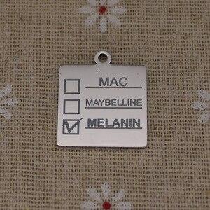 Image 3 - Ladyfun Aanpasbare Rvs Charm MAC Hanger Melanine Makeup Mac Maybelline Melanine Bedels Voor DIY Sieraden Maken