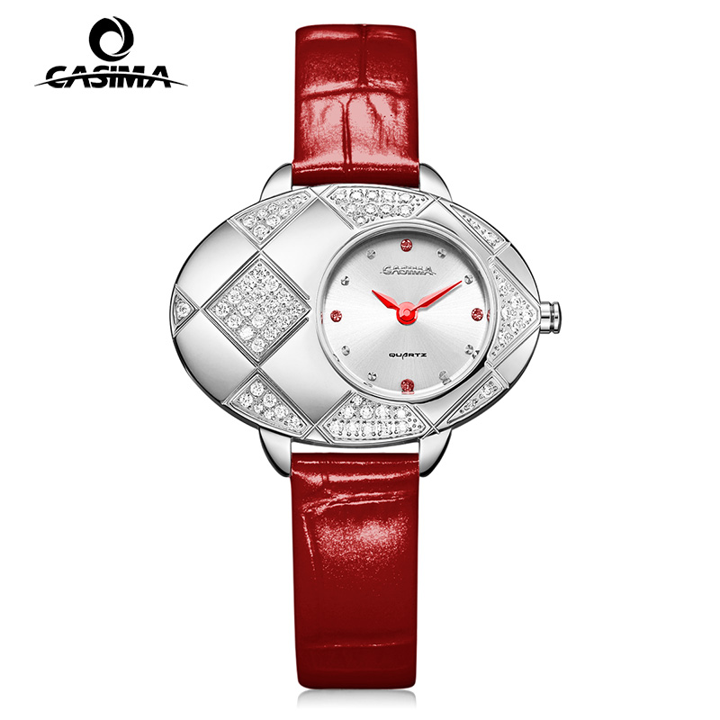CASIMA Luxury Brand Women Watches Fashion Casual Ladies Quartz Wrist Watch Waterproof Leather Clock 2017 Saat Relogio Feminino relogio feminino casima women watches fashion waterproof leather diamond ladies quartz wrist watch clock saat 2018 reloj mujer