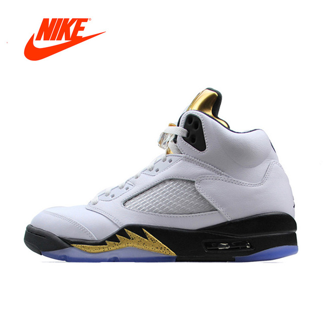 New Arrival Official Nike Air Jordan 5 Retro AJ 5 Men\u0027s Breathable Basketball  Shoes Sports Sneakers