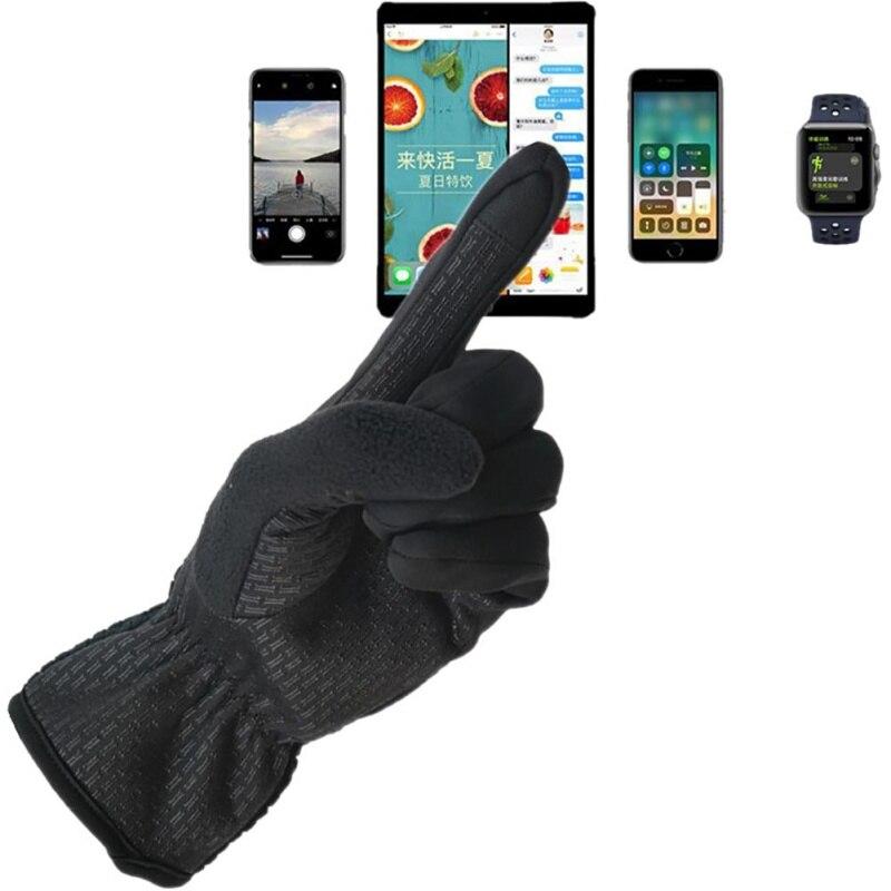 Ski & Snowboard Outdoor Winter Warme Voll Finger Radfahren Handschuhe Männer Touch Screen Anti Slip Thermische Handwear Sportswear Zubehör Ausreichende Versorgung
