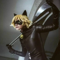 Full Set Of Miraculous Ladybug Jumpsuite Adrien Agreste Black Cat Noir Cat Suit Cosplay Costume Halloween