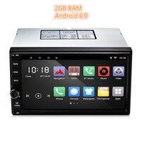 Универсальный 2 Din Автомобильный плеер Android 6,0 автомобилей Радио MP3 автомобиль аудио плеер Видео Мультимедиа gps AM RDS FM радио Bluetooth 2 ГБ