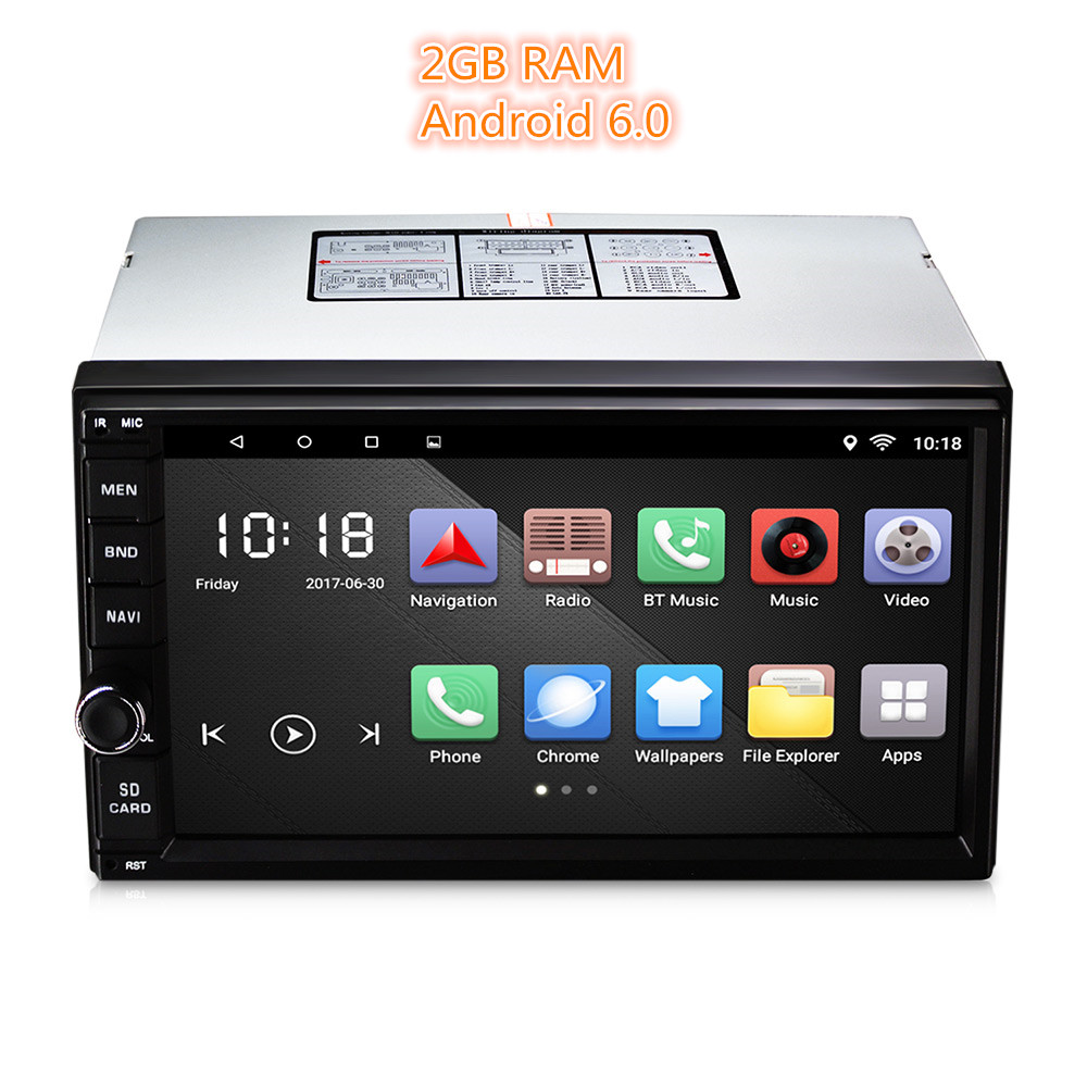 universal 2 din car player android 6 0 car radio player. Black Bedroom Furniture Sets. Home Design Ideas