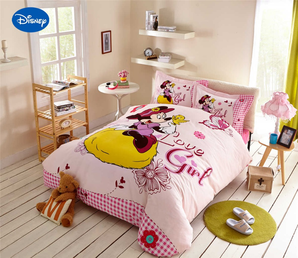 Minnie Mouse Comforter Sets Cartoon Disney Bedding Textile Girl 39 S Bedroom Decor Single Twin