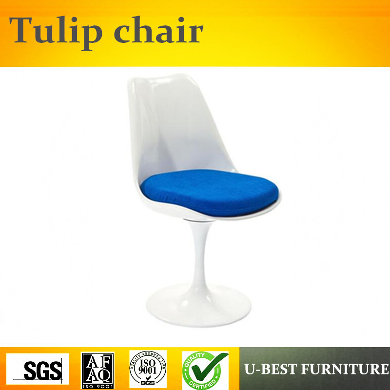 U-BEST Modern Design Dinning fiberglass Little Tulip Chair, Replica Dining Room Chair with fabric Cushion u best modern fiberglass bar chair dining chairs with fabric cushion designer classic tulip dining chair