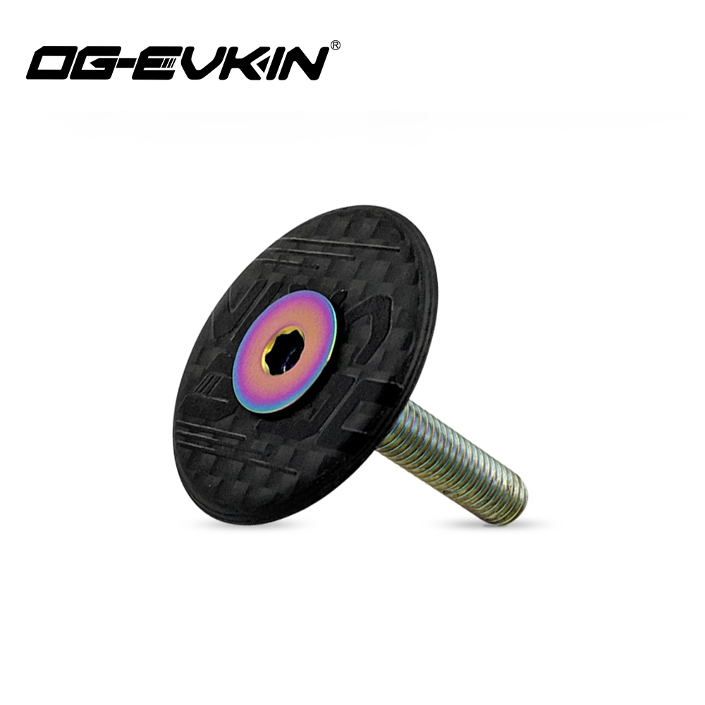 OG-EVKIN HC-001 Carbon Fiber Headset Top Cap Titanium Bolt M6 X 35mm 1-1/8
