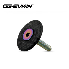 OG-EVKIN HC-001 Carbon Fiber Headset Top Cap Titanium Bolt M6 x 35mm 1-1/8 Super Light 6.2G Bicycle Accessories For