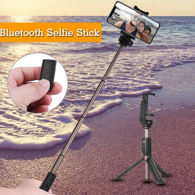 3 in 1 bluetooth Mini Extendable Folding Tripod Selfie Sticks fot Mobile Phone Controller Set Folding Extendable Selfie Stick