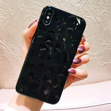 Diamond Texture Case For iPhone 6 6s 7 8 Plus X