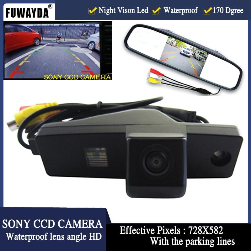 FUWAYDA 4.3inch LCD Car Monitor+SONY HD Night Vision Car Auto Assistance Reverse Camera for Toyota Highlander Kluger Lexus RX300