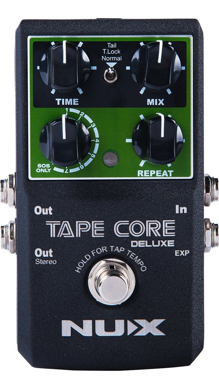 NUX Tape Core Deluxe Guitar effect pedal Tape Echo Delay effects nux time core deluxe delay pedal different types of delays to the upmost ambience