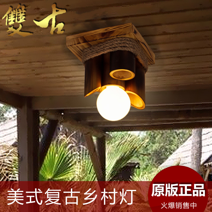 American style ceiling light vintage balcony lamp wood chinese style bamboo fashion hemp rope lamps american style hemp rope pendant light personalized bar table lamps nostalgic vintage clothes lighting