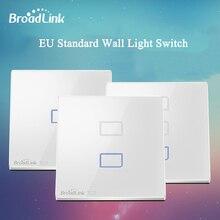 Broadlink СК2 ЕС Стандарт Wi-Fi Настенный Выключатель Света Сенсорный Экран Беспроводной Пульт Дистанционного Управления IOS Android Умный Дом Автоматизация