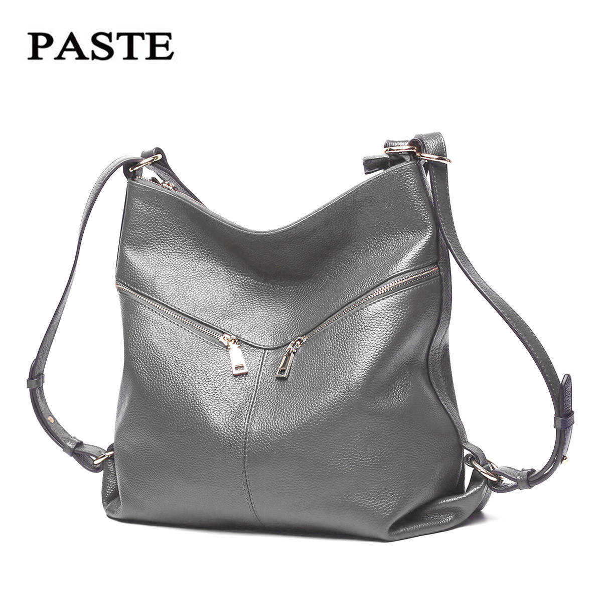 PASTE Genuine Leather Bag Women Messenger Bags for Women 2018 Vintage Cow Leather Bag designer Women Shoulder Bags Bolso Mujer aeclvr small women bags pu leather messenger bag clutch bags designer mini shoulder bag women handbag hot sale bolso mujer purse