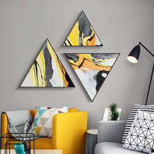 Abstract wall painting Modern minimalist bedside Creative Nordic ins style Living room decorative with frame