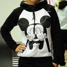 2016 New Autumn Mickey Printed hoodies for women Tracksuits Casual Sweatshirt And Pant Set