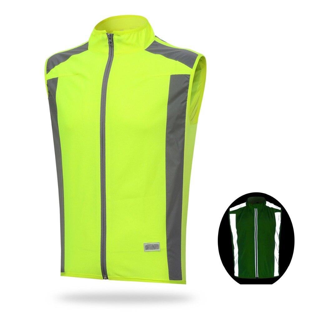 Reflective Safety Cycling Vest Running Walking Jogging Sports Windbreaker S-3XL