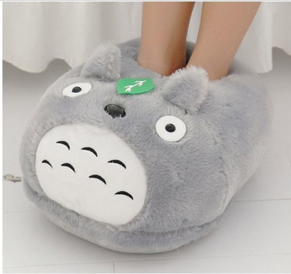 цена на Winter warm My Neighbor Totoro Slippers Totoro Plush Shoes for Indoor House Bedroom Winter Comfortable Warm Shoes A51802