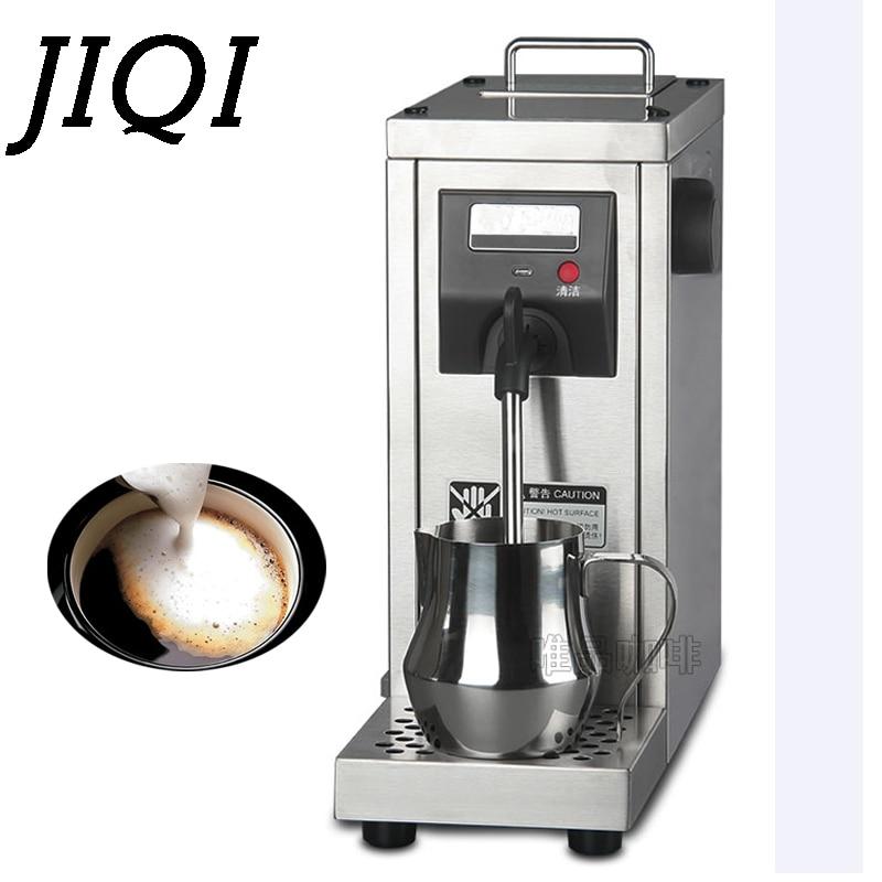 JIQI Grote capaciteit professionele 220 V Commerciële rvs melkopschuimer/melk stoomboot voor cappucinno latte koffie machine