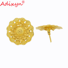 Adixyn Gold Color/Copper Fashion Jewelry Light Weight Stud Earrings For Women/Girls Party/Birthday Gifts N022010