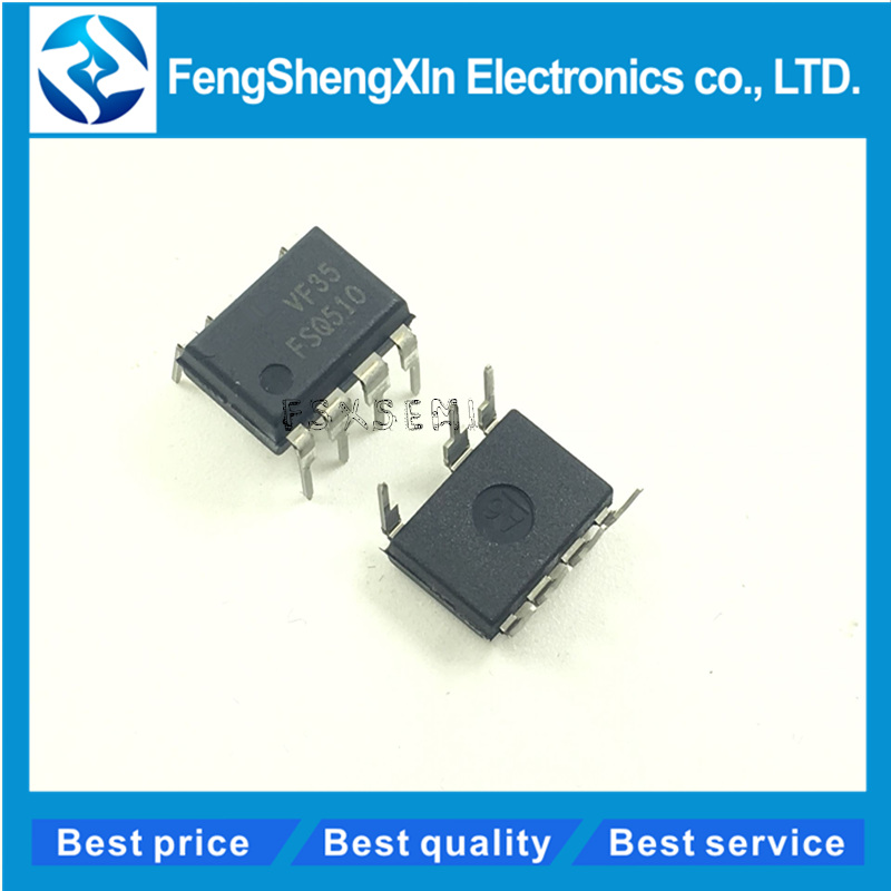 10pcs/lot NEW FSQ510 IC SWITCH FPS 0.5A 700V 7-DIP Power Switch (FPS) for Valley Switching Converter - Low EMI and High Ef