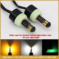 1157 7443 3157 High Power LED Switchback Двухцветный Белый Желтый для Автомобилей DRL Указатель Поворота автомобиля для укладки