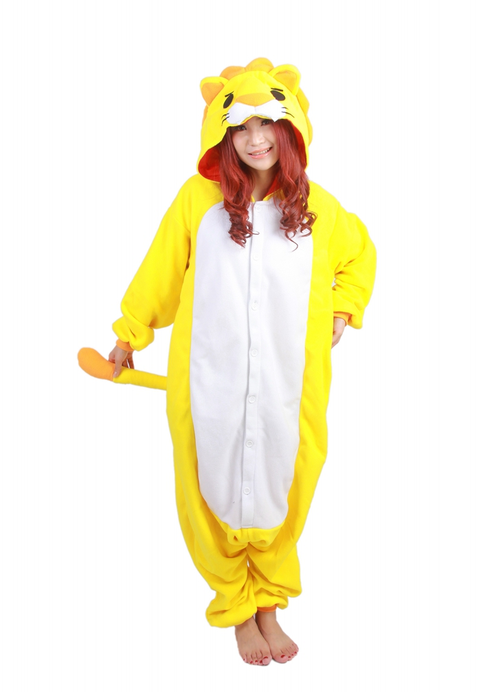Unisex Fleece Adult Lion Onesies Animal Cosplay Costume Halloween Xmas Pajama