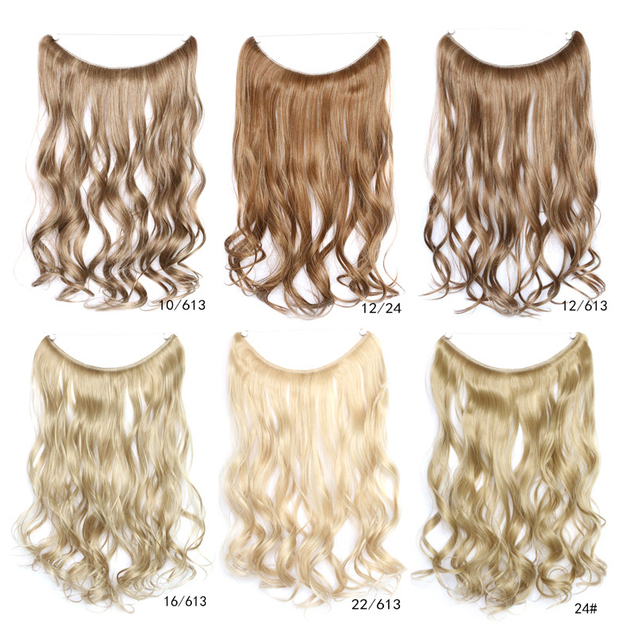 Halo Hair Extensions One Piece Invisible No Clips Flip In Long Curly