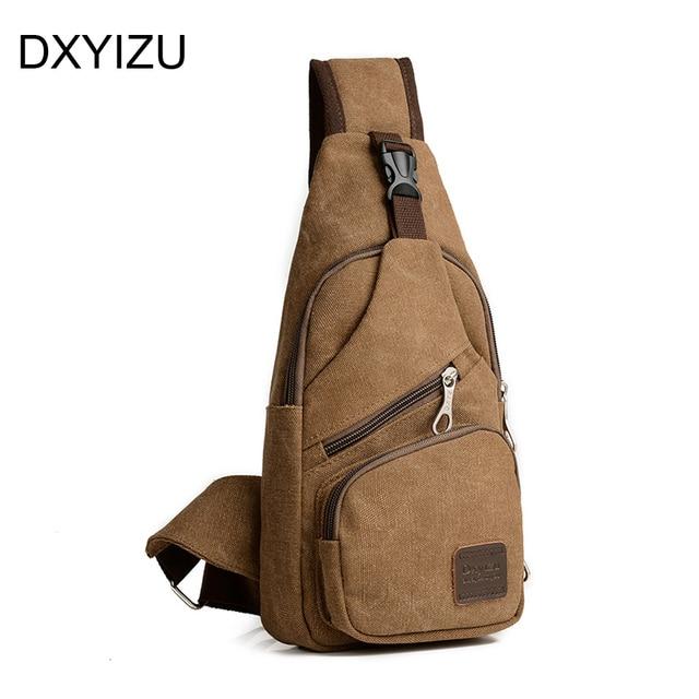 e6a69320c27a women sling bag black crossbody Men Chest Pack Sling Single Shoulder Strap  Pack Bag Travel Bag brown Canvas Rucksack Chest Bag