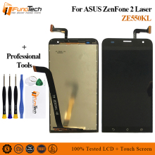 цена на Free Ship Display For ASUS Zenfone 2 Laser ZE550KL LCD Display Touch Screen with Frame Replacement Parts For ASUS ZE550KL LCD