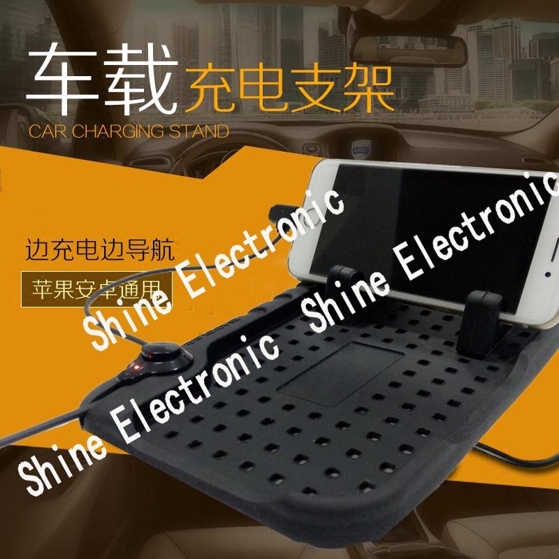 2017 автомобиль-Стайлинг автомобиля Зарядное устройство телефон Коврики резиновые для автомобиля держатель телефона Авто Зарядные устройст…