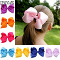 """30 Color 4"""" Fashion Boutique Ribbon Hair Bow For Baby, Girls Toddler Solid Hairbows Hairclip, Hamdmade Cheap Price bow For Fids"""