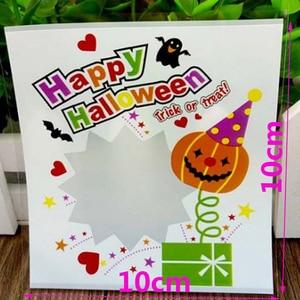 Image 5 - 100 ピース/パック素敵なハロウィンクッキーキャンディーパン包装袋多色自己粘着クッキー包装ポーチボックス