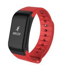 Smart Band измерять кровяное давление часы F1 Смарт-часы браслет сердечного ритма Мониторы SmartBand Беспроводной Фитнес для Android IOS Телефон