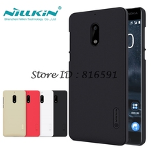 Nokia 6 Случая Nillkin Матовый Щит Жесткий Задняя Обложка Чехол Для Nokia 6 Nokia6 5.5 дюймов Экрана Подарок Защитника